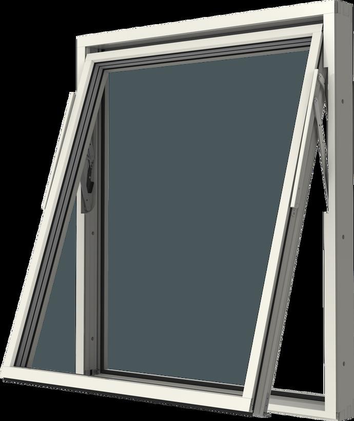 Vridfönster trä/alu utsida