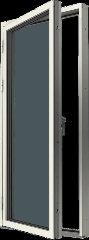 Altandörr med originalbåge trä/alu, vä, utsida