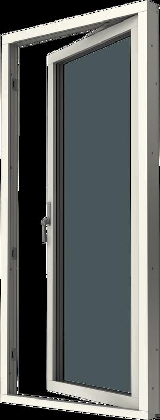 Altandörr med originalbåge, trä/alu, vä, insida
