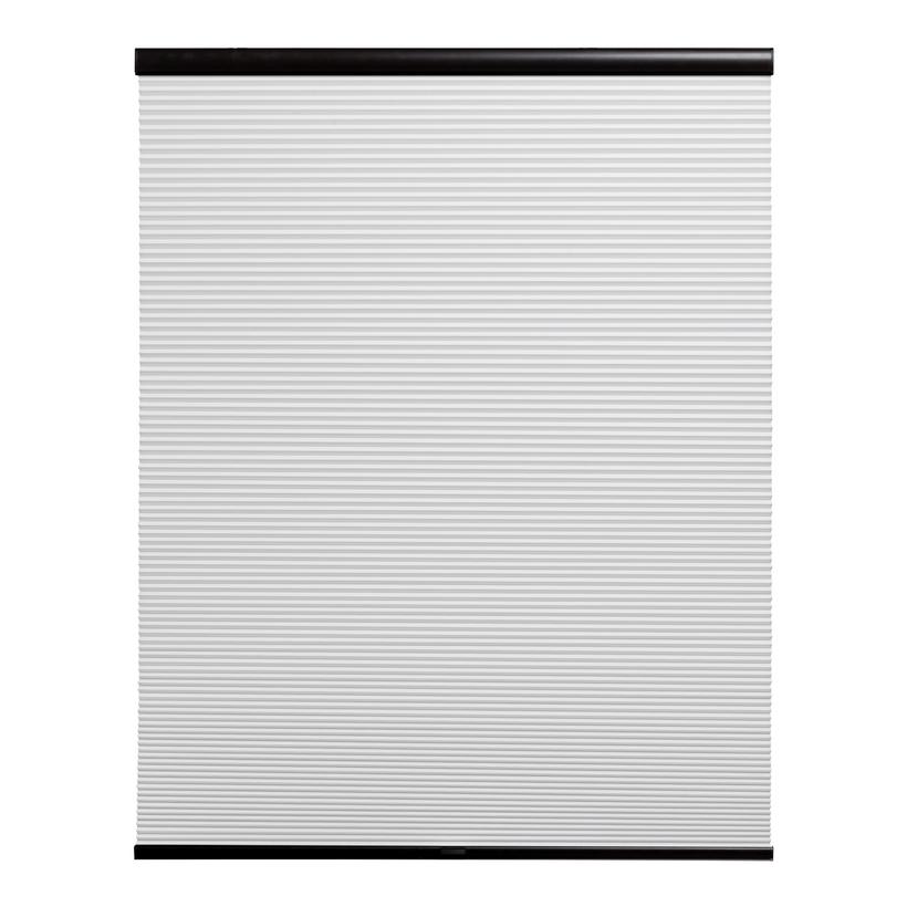 Plisse Touch vit med svart list
