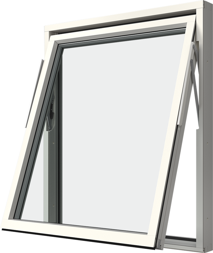 Alu Vridfönster Utsida Öppet 2