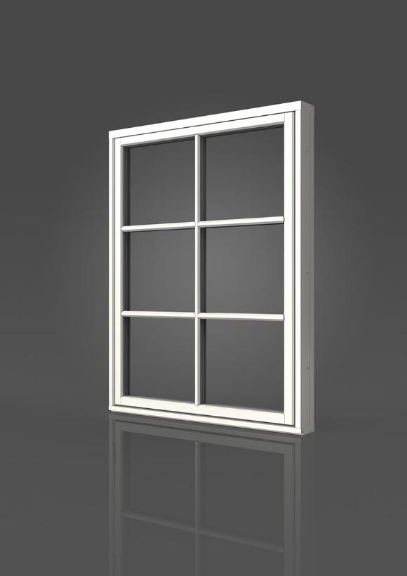 Elitfönster Retro Fast karm-fönster
