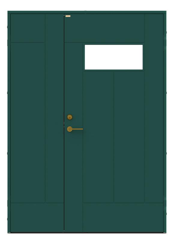Produktbild Diplomat x Minimarket Ytterdörr Barrstigen Halvpar Grön Utsida