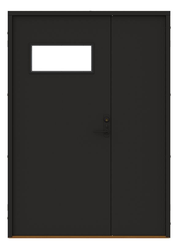 Produktbild Diplomat x Minimarket Ytterdörr Barrstigen Halvpar Svart Insida