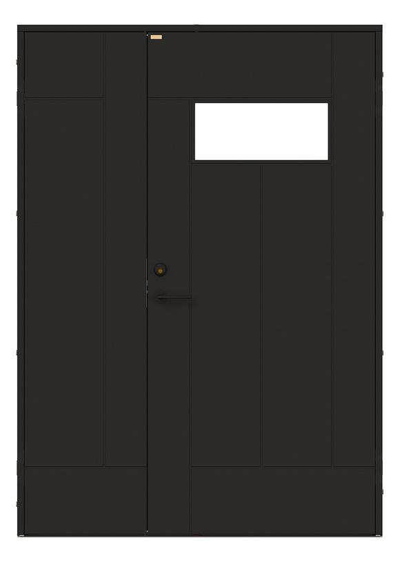 Produktbild Diplomat x Minimarket Ytterdörr Barrstigen Halvpar Svart Utsida