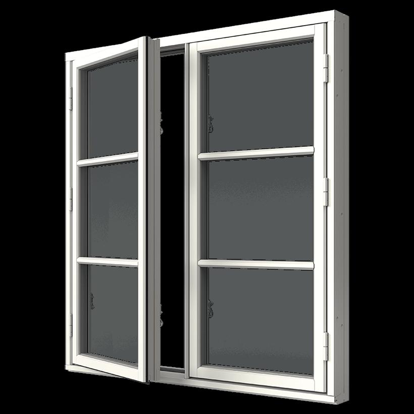 Elitfönster Retro Sidhängt fönster 2-luft