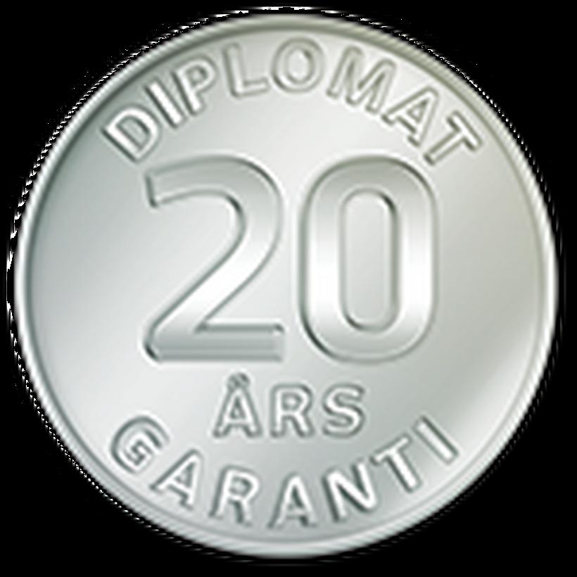Diplomat - Garanti 20 år
