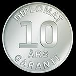 Diplomat - Garanti 10 år