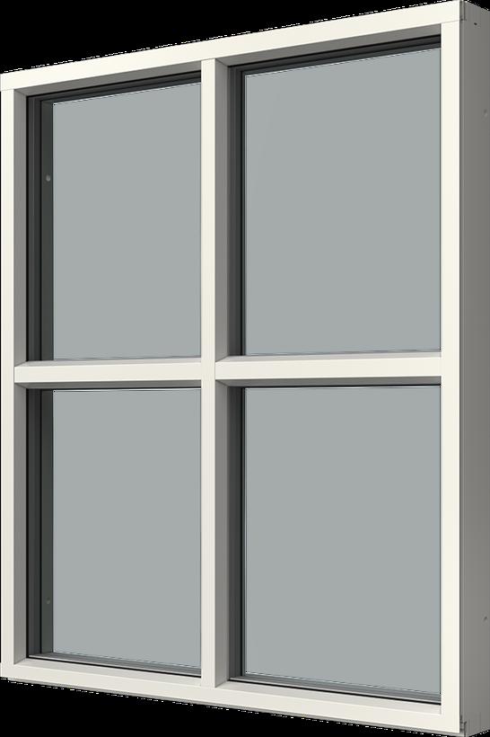 Fast karm med aluminiumbeklädnad, Utsida