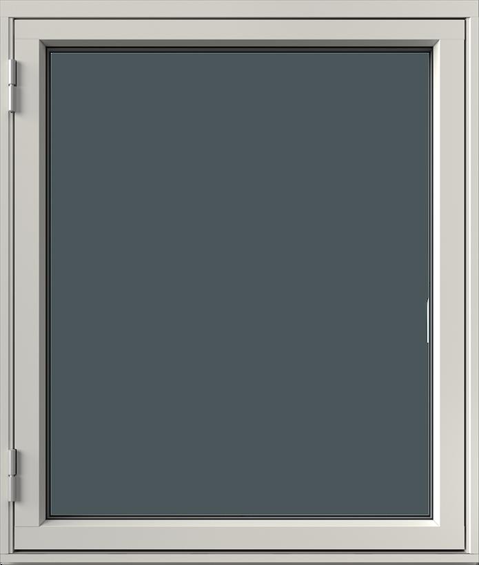 Sidhängt med aluminiumbeklädnad, Utsida, Stängt