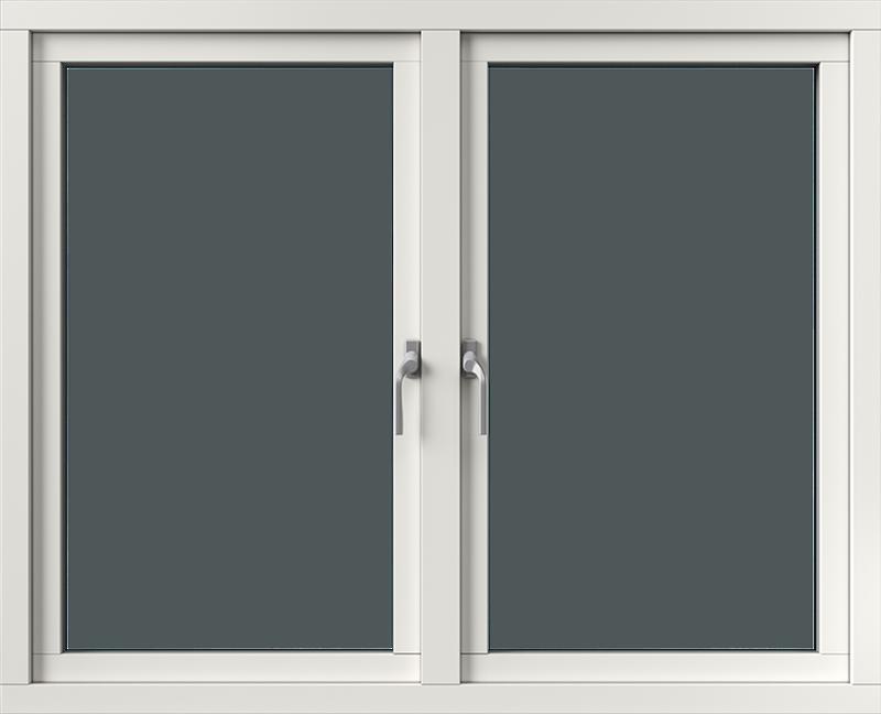 Sidhängt med aluminiumbeklädnad, Insida, Öppet