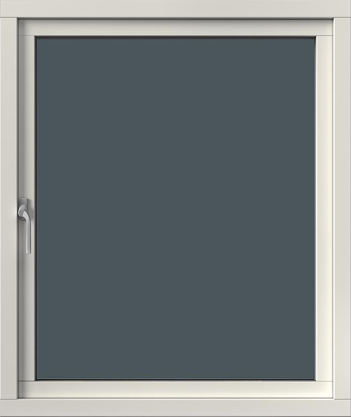 Sidhängt med aluminiumbeklädnad, Insida, Stängt