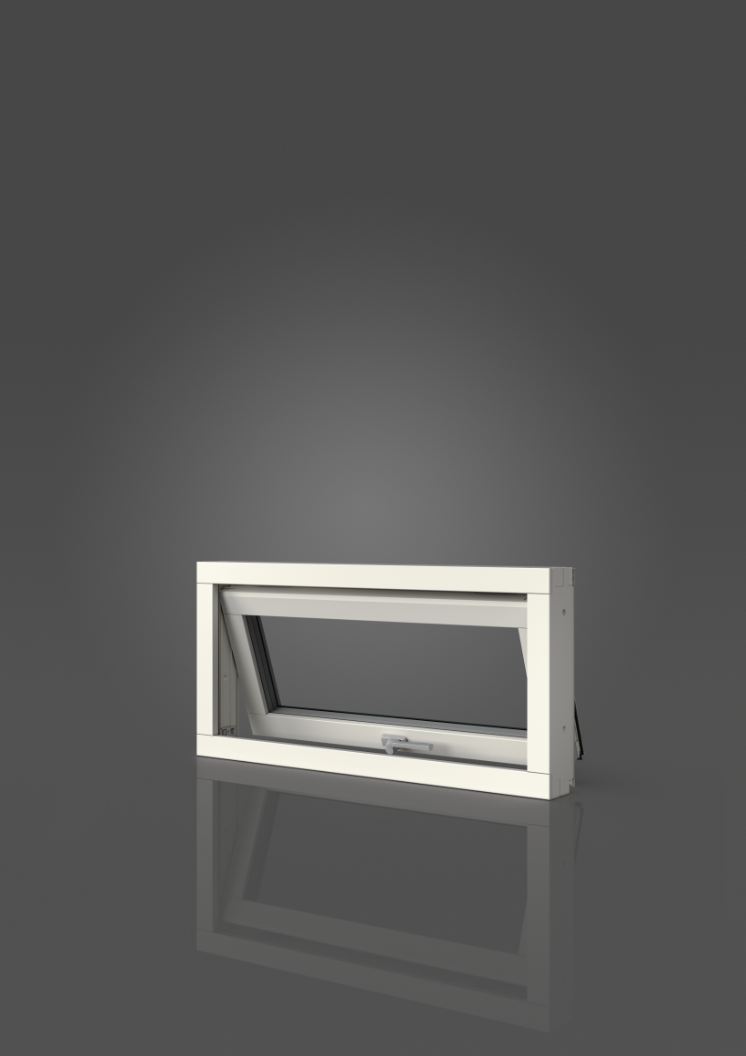 Överkantshängt med aluminiumbeklädnad, Insida, Öppet