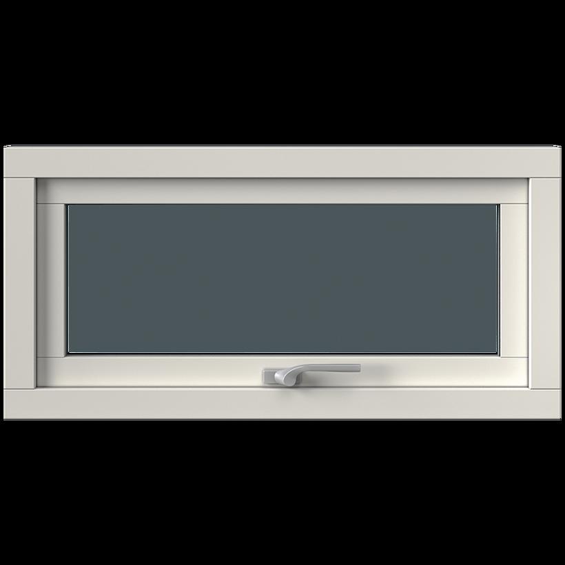 Överkantshängt med aluminiumbeklädnad, Insida, Stängt