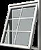 Vridfönster i trä, Utsida, sp21