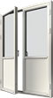 Altandörr i helglasutförande i trä, Utsida, Stängt