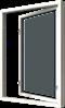 Sidhängt i trä, 2-glas, Insida, Öppet