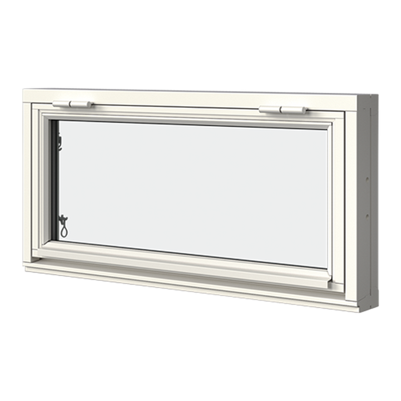 Överkantshängt i trä, 2-glas, Utsida, Stängt