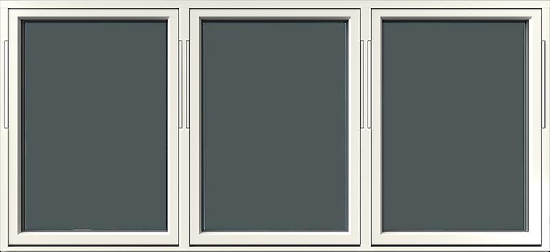 Vridfönster trä/alu 3-luft, utsida