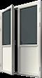Altanpardörr trä, vänster gångdörr, utsida
