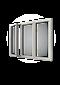 Sidhängt fönster trä/alu 3-luft, utsida