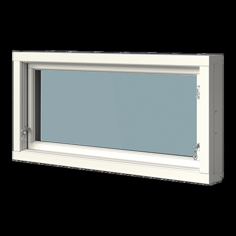 Överkantshängt fönster trä/alu, insida