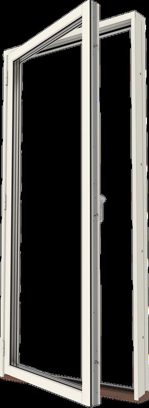 Altandörr trä/alu helglasad, vänster, utsida
