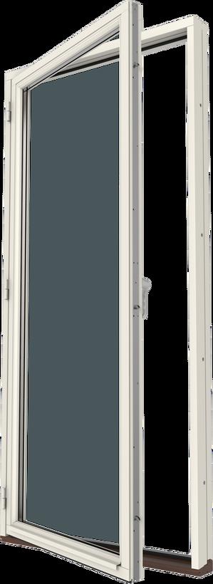 Altandörr trä helglasad, vänster, utsida